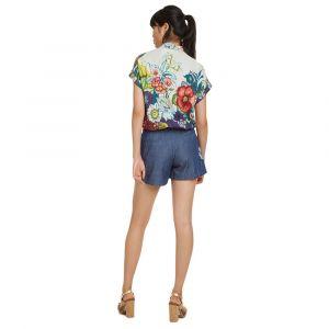 Desigual Short en jean à motif Bleu - Taille 42