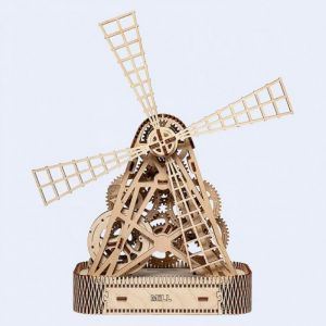 Wooden.City Puzzle 3D en Bois - Moulin