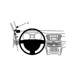 Brodit 804589 - Support de fixation ProClip pour Peugeot 508 11-13 montage à gauche