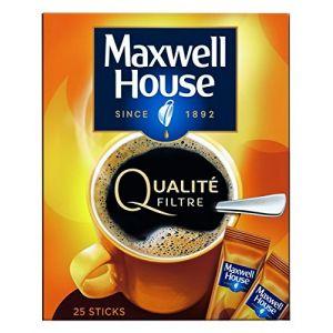 Maxwell house Set de 25 Doses de Café Soluble Qualité Filtre Normal 45 g