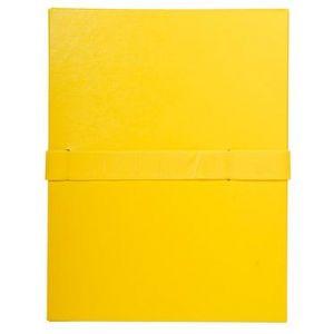 Exacompta 2649E - Chemise à dos extensible balacron, à sangle velcro, coloris jaune