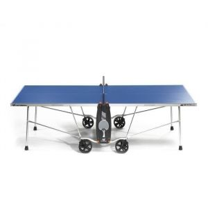 CORNILLEAU Table de Ping-Pong 100 S Crossover Outdoor - Table de Ping Pong 100 S Crossover pliable et dépliable - Bleu et gris.