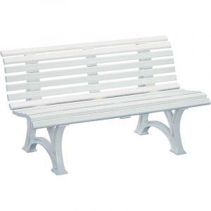 Kettler Banc d'extérieur en plastique - à 13 lames - largeur 1500 mm, blanc