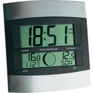 TFA Dostmann 98.1006 - Horloge murale et radio réveil avec affichage température