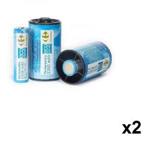 Uniross 4 accus AA 2300 mAh, 1.2 V - CRF + 4 convertisseurs AA vers D