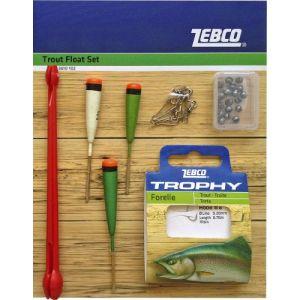 Zebco Kit de flotteurs pour pêche à la truite Multicolore