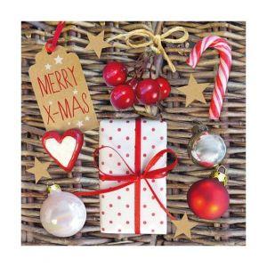 12 serviettes Fêtes de Noël (33 x 33 cm)