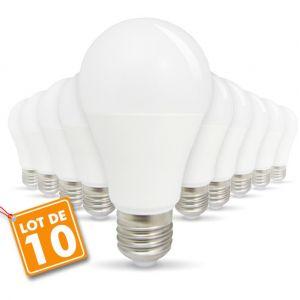 Eclairage design Lot de 10 Ampoules LED E27 9W eq 60W 806lm   blanc-froid-6400k