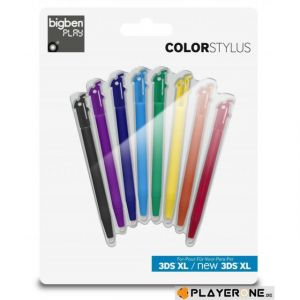 Bigben Pack 8 Stylets Bigben Coloris pour New 3DS XL / 3DS XL