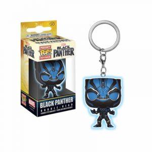 Funko Porte Clé Marvel Black Panther - Black Panther Glow In The Dark Pocket Pop 4cm