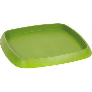 Eda Plastiques Soucoupe plastique carré chorus vert matcha pot carré 15,2 l 26,8 x 26,8