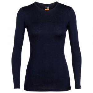 Icebreaker 200 Oasis LS Crew Top Women, midnight navy L T-shirts manches longues