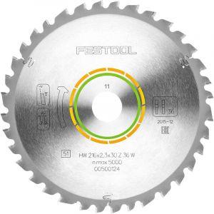 Festool W36 Lame de scie 216x2,3x30