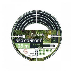 Cap Vert Tuyau d'arrosage Néo Confort - Diamètre 25 mm - Longueur 25 m
