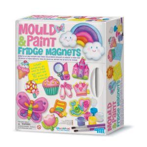 4M - Kidz Labs Kit de moulage en plâtre : Magnets de réfrigérateur