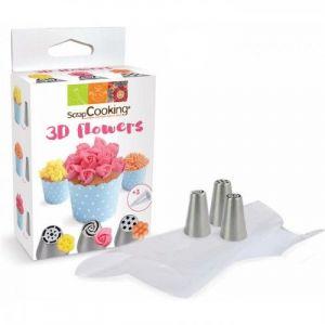 Scrapcooking Kit douilles 3D Fleurs