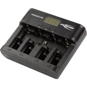 Ansmann Powerline 5 Pro Chargeur pour 1 à 4 piles rechargeables AAA/AA/C/D NiMH/NiCd/1 bloc 9V