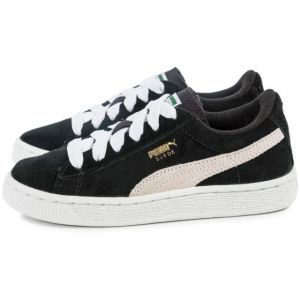 Puma Suede Jr - 355110 - Baskets mode - Garçon - Noir (Black/White) - 28 EU