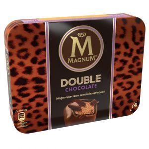 Magnum Bâtonnets de glace Double chocolat - La boite de 4, 308g