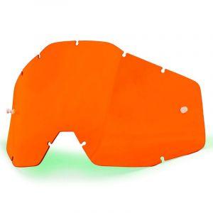 100% Ecran masque cross orange