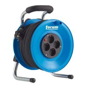 Forum Enrouleur de câble, plastique, IP 20, Type de câble : H05 RR-F 3G1,5, Long. de câble 50 m, Qualité du câble Caoutchouc