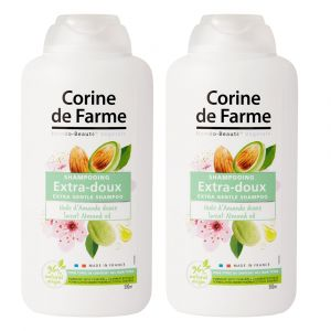 Corine de Farme Shampooing Extra-Doux à l'Huile d'Amande Douce - 2 x 500 ml