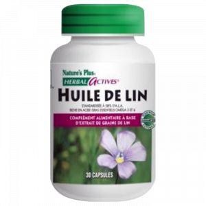 Nature's Plus Huile de lin - 30 comprimés