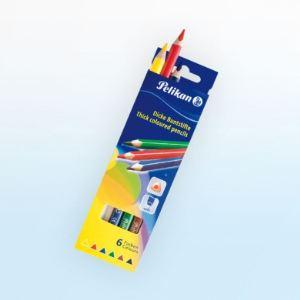 Pelikan 724021 - 6 Crayons de couleur épais BSD6DN assortis