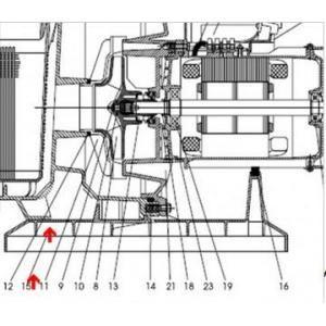 Procopi 593012 - Pied de pompe Tifon 1 75 à 200/300T