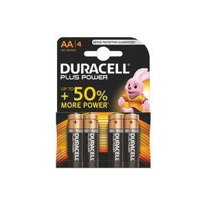 Duracell 4 piles alcalines AA LR06 1.5V Plus Power