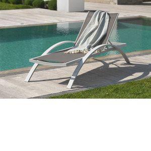 DCB Garden Barcelona - Chaise longue en textilène et alu