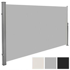 TecTake Auvent store latéral brise-vue abri soleil aluminium rétractable
