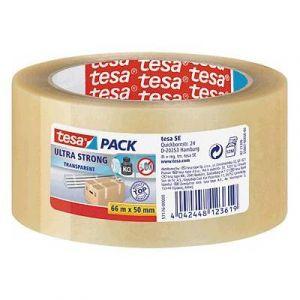 Tesa 57176-00000-08 - Ruban adhésif Pack Ultra Strong, 50 mm x 66 m, en PVC incolore