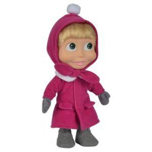 Simba Toys Poupée Soft Masha en tenue d'hiver 23 cm