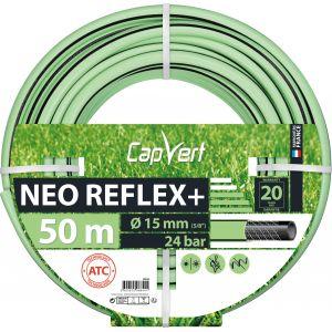 Cap Vert Tuyau d'arrosage Néo Reflex+ - Diamètre 15 mm - Longueur 50 m