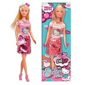 Simba Toys HELLO KITTY - STEFFI LOVE Poupée 29 cm Fashion Paillettes Sequins Réversibles