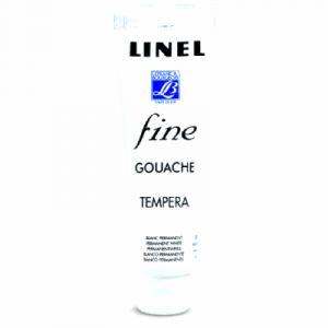Lefranc & bourgeois Gouache Linel 120ml blanc permanent