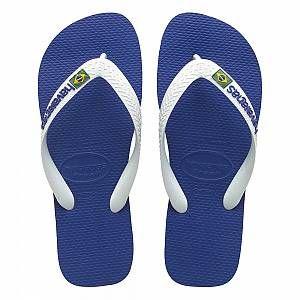 Havaianas Brasil Logo, Tongs Mixte Adulte, Bleu (Marine), 39/40 EU (37/38 Brazilian)