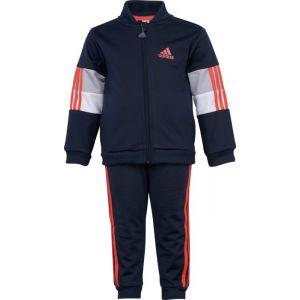 Adidas I Shiny TS Survêtement Mixte Enfant, Top:Legend Ink/Hi-Res Red S18 Bottom:Legend Ink F17/Hi-Res Red S18, FR : XL (Taille Fabricant : 1218)