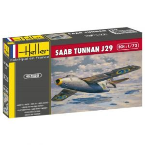 Heller 80260 - Maquette avion Saab Tunnan J29
