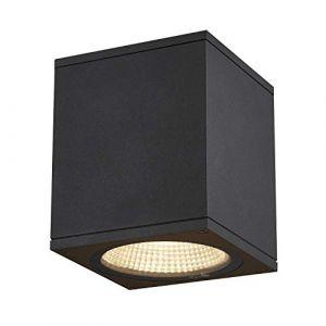 SLV ENOLA, plafonnier extérieur, carré, M, anthracite, LED, 10W, 3000K/4000K, IP65 - Lampes sur pied, murales et de plafond (extérieur)