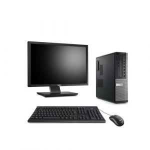 Dell Optiplex 7010 Desktop + Ecran 22'' - Intel Core i5-3470 / 3.20 GHz - RAM 4 Go - HDD 250 Go - DVD - GigaBit Ethernet - Windows 10 Professionnel