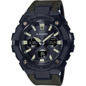 Casio Montre GST-W130BC-1A3ER - G-Shock Bracelet Nylon Vert Kaki Boitier Résine Noir Homme