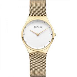 Bering Montre Classic 12131-339 - Montre Acier Or Bracelet Maille Milanaise Femme