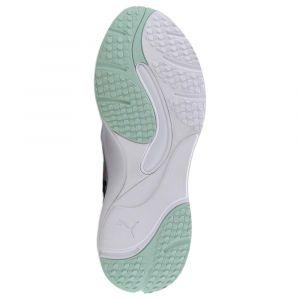 Puma Chaussure Basket Rise pour Femme, Blanc/Vert, Taille 39
