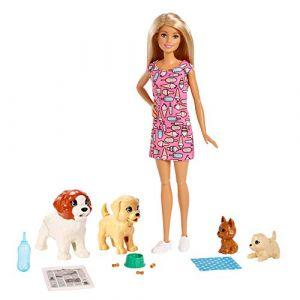 Simba Toys Poupée Barbie - Coffret Barbie et ses chiots