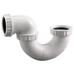Valentin 56020000100 - Siphon plastique sortie orientable à visser pour tube D 40 blanc pour baignoire