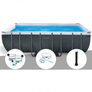 Intex Kit piscine tubulaire Ultra XTR Frame rectangulaire 5,49 x 2,74 x 1,32 m + Kit de traitement au chlore + Kit d'entretien + Douche solaire