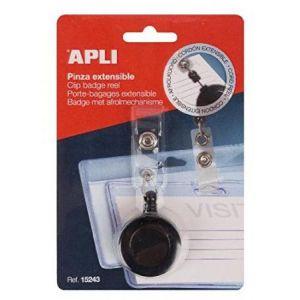 APLI 15243 - Porte-badge 115 x 71 mm, avec pince et dérouleur