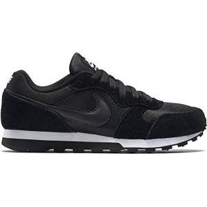 Nike MD Runner 2, Baskets Femme, Noir (Black/Black/White 001),-36